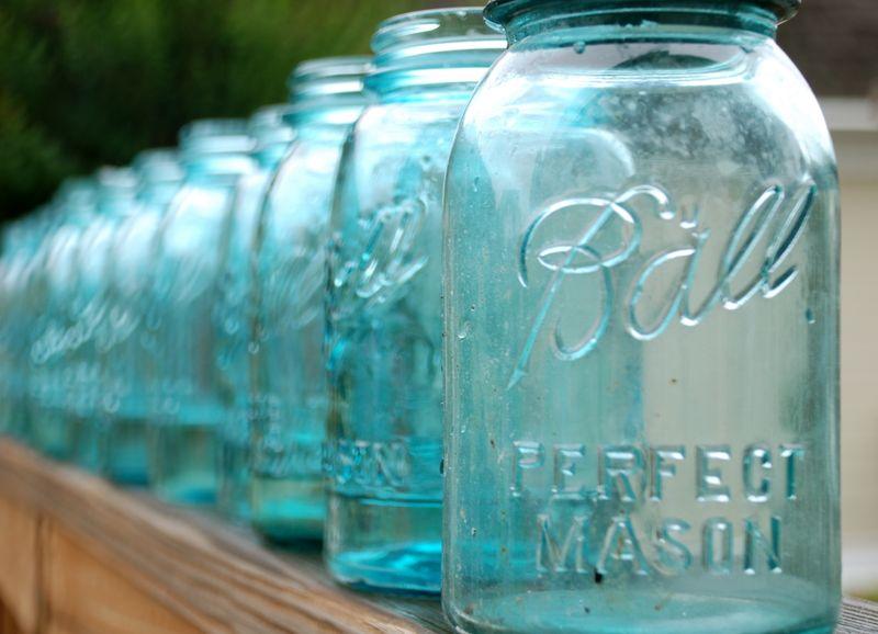Blue Ball Mason Jars