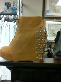 Spiked Wedge Booties
